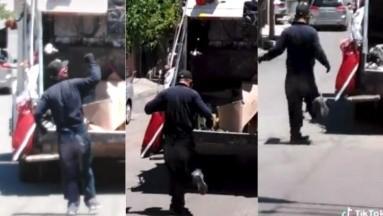 En medio de la pandemia, recolector de basura baila al hacer su trabajo