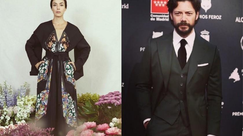 Cecilia Suárez y el español Álvaro Morte(Instagram)