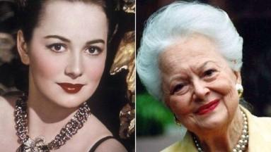 Olivia de Havilland, quien participó en la película
