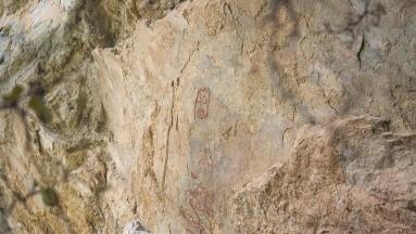 Tras sismo, descubren pinturas rupestres por desprendimiento de rocas en Oaxaca