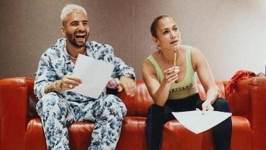 Jennifer López y Maluma trabajan juntos en la canción de la película