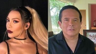 Frida Sofía aprovechó que Julián Gil arremetió en contra deGustavo Adolfo Infante para ella hacer lo mismo.