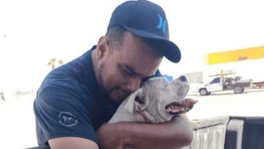 ¡Desgarrador! Joven le da el último adiós a su perrito con cáncer antes de dormirlo