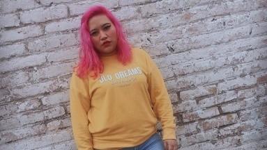 La TiktokerHerlanlly Rodríguez aborda problemáticassociales con humor.