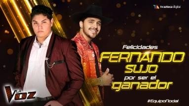 Fernando es el ganador de 'La Voz' 2020.