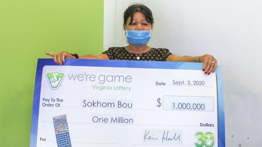 ¡El mejor regalo! Mujer se gana un millón de dólares el día de su cumpleaños(valottery.com)