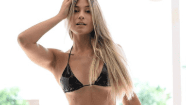 Issa Vegas presumió su espectacular retaguardia en diminuto bikini