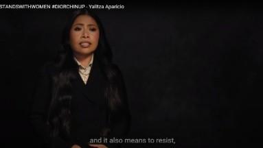 Yalitza Aparicio habla de su papel como embajadora de la Unesco.