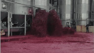 VIRAL: Enorme fuga de vino tinto se registra en almacén de España