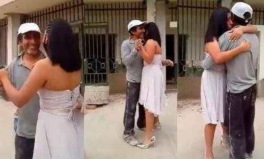VIDEO: ¡Conmovedor! Quinceañera busca a su padre albañil para bailar el vals
