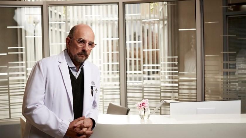 Richard Schiff, caracterizado de Dr. Aaron Glassman.(@thegooddoctorabc/Instagram)