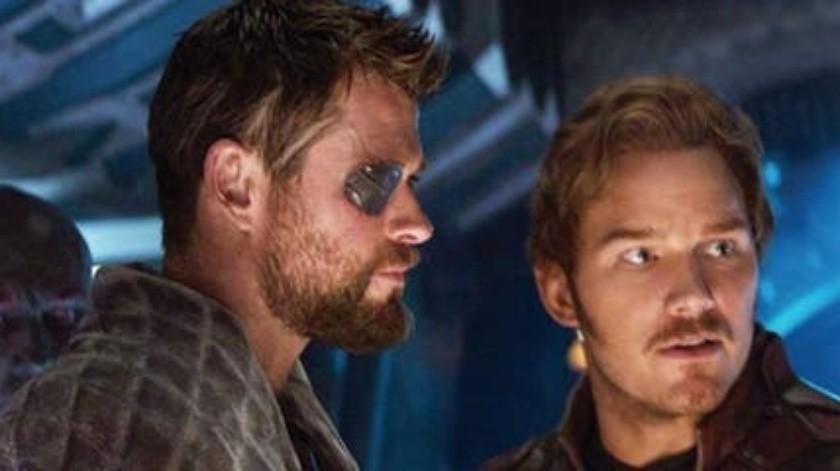 Pratt interpreta a Star-Lord y Hemsworth a Thor.(Internet)