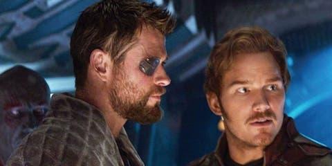 Pratt interpreta a Star-Lord y Hemsworth a Thor.
